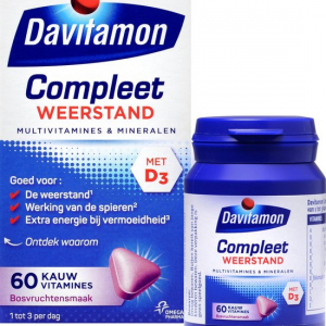 Davitamon Compleet Weerstand Kauwvitamines